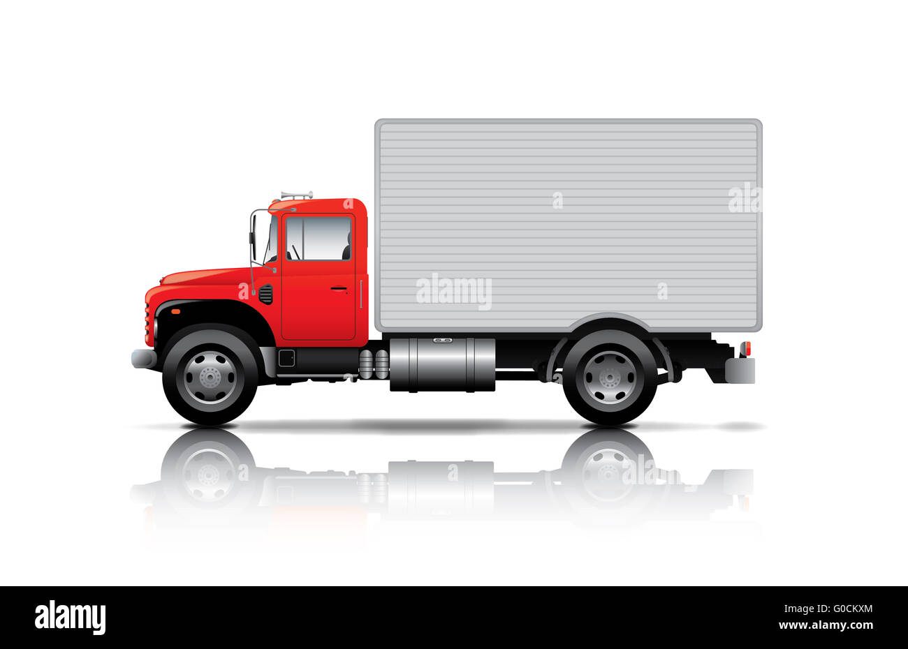 Semi Truck Trailer Van Box Stockfotos & Semi Truck Trailer Van Box ...