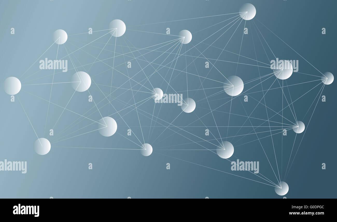 abstrakte Netzdarstellung Stockbild