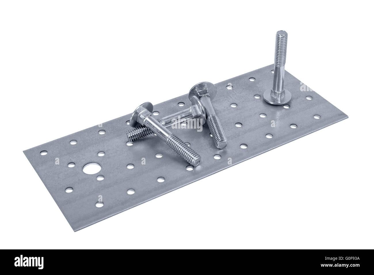 Lochblech Mobel Schrauben Und Muttern Stockfoto Bild 103598638 Alamy