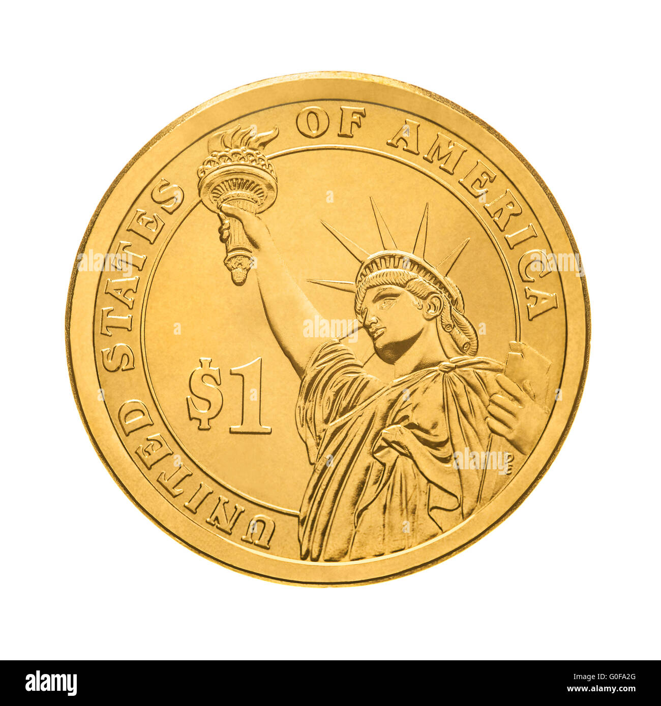 Ein Dollar Münze Statue Of Liberty Stockfoto Bild 103599400 Alamy