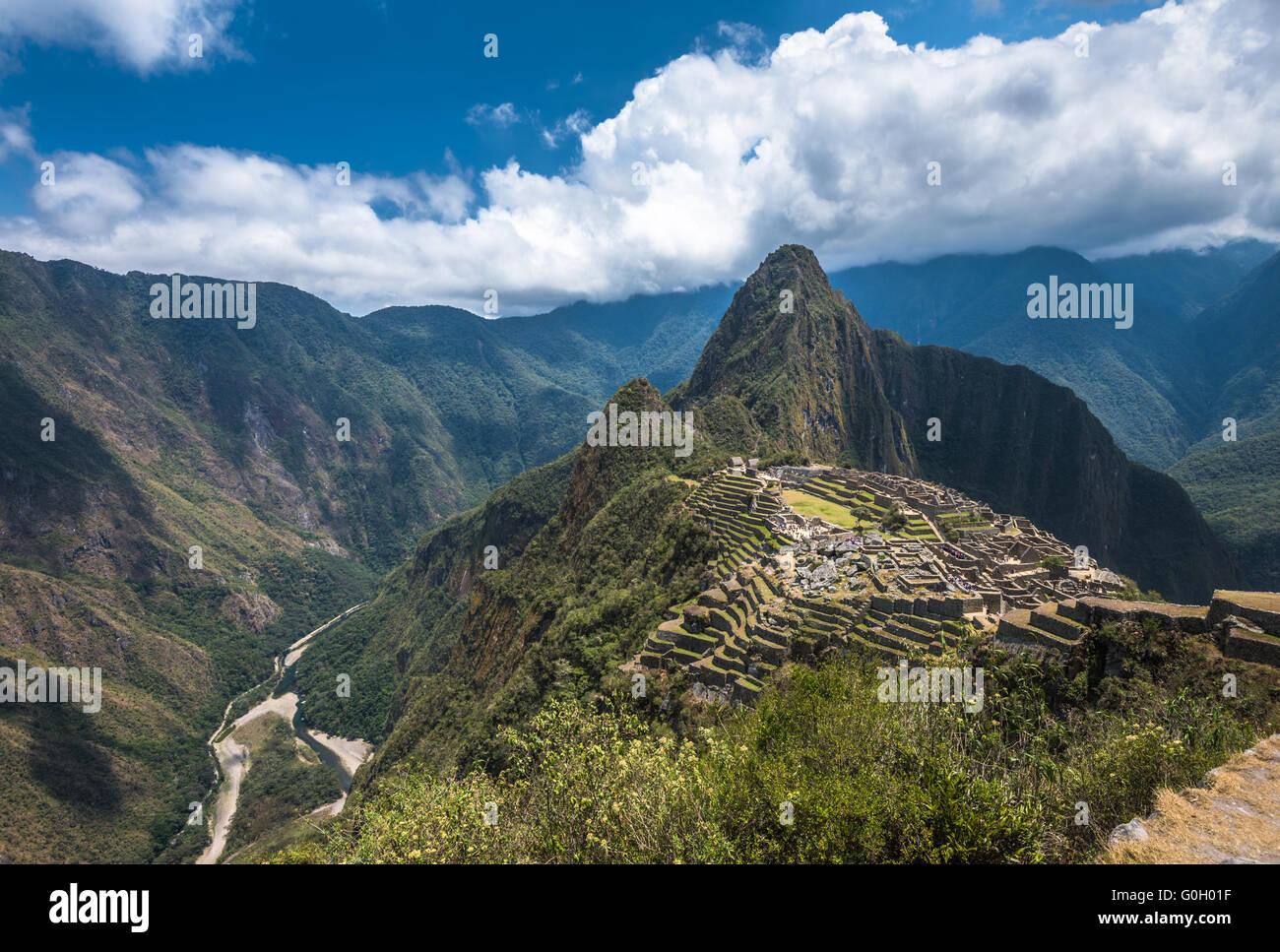 Machu Picchu, UNESCO-Weltkulturerbe. Eines der neuen sieben Weltwunder. Stockbild