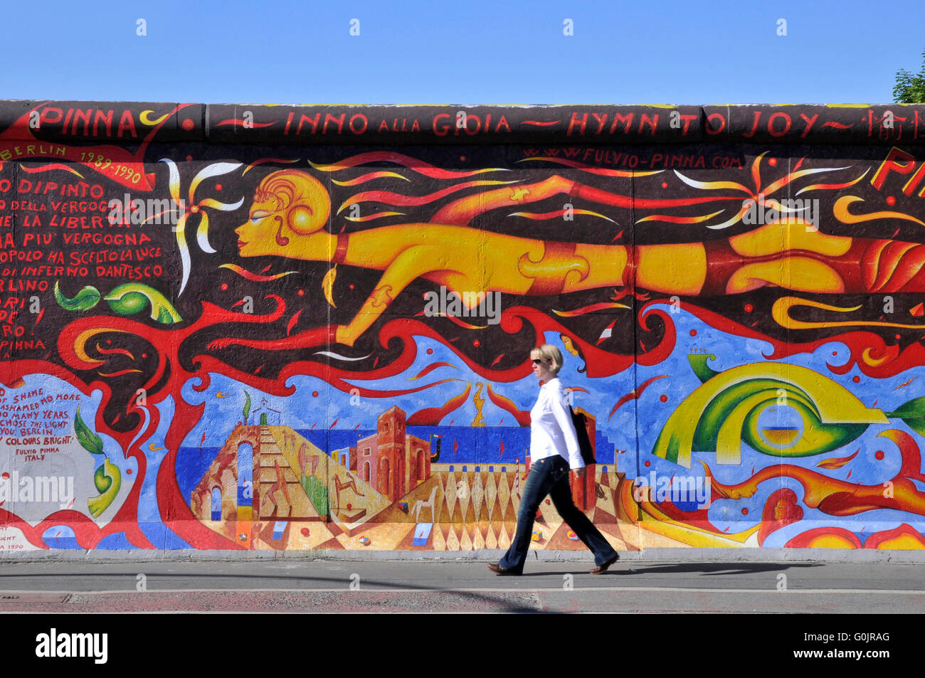 East side gallery wandmalerei malerei freiluftgalerie berliner mauer friedrichshain berlin - Wandmalerei berlin ...