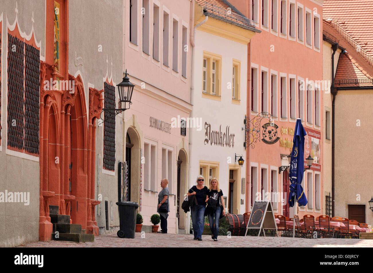 Domherrenhauser, Domplatz, Altstadt, Meißen, Sachsen, Deutschland / Domherrenhäuser, Dekanat Residenz, Stockbild