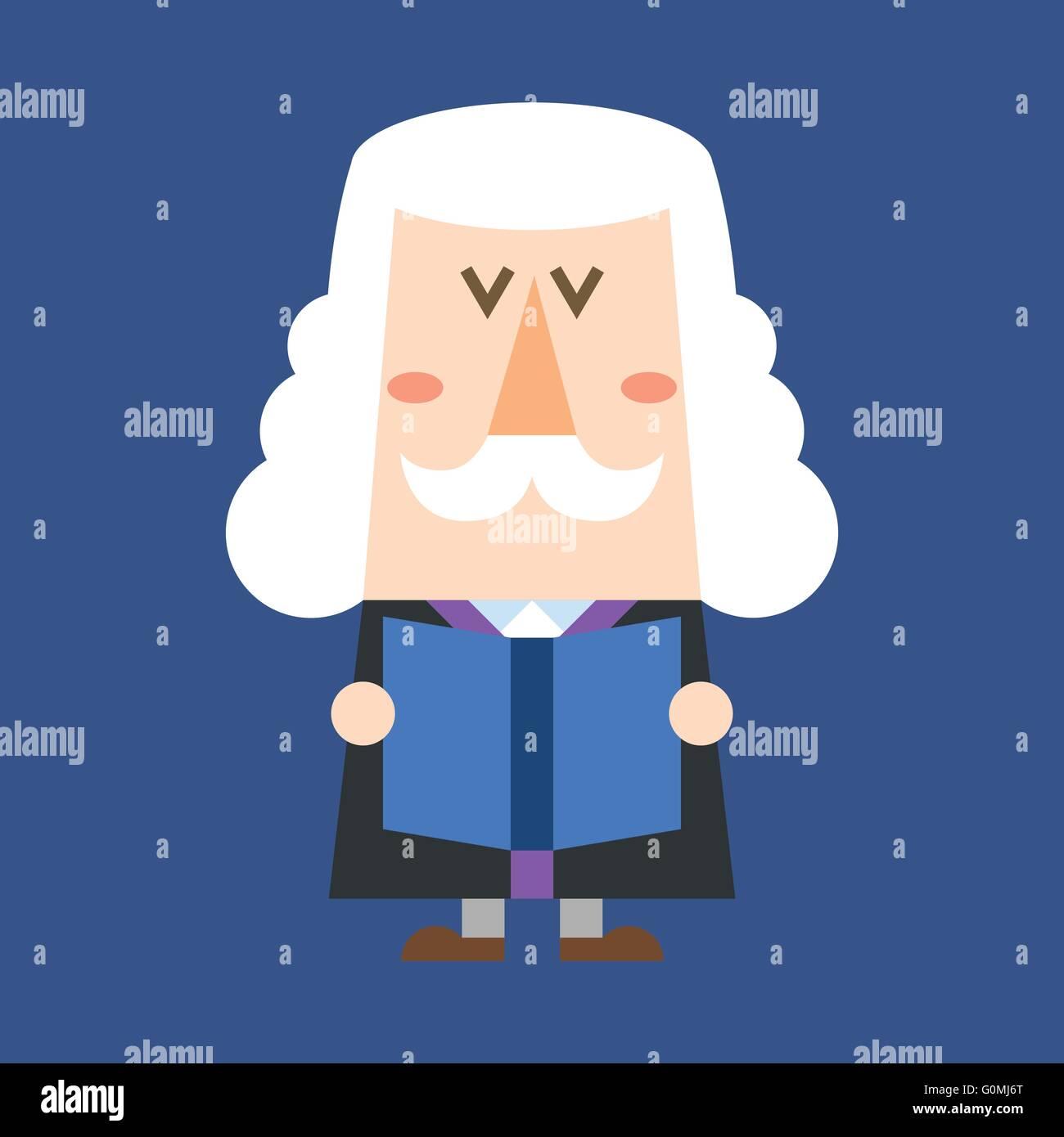 Richter-Charakter Stockbild