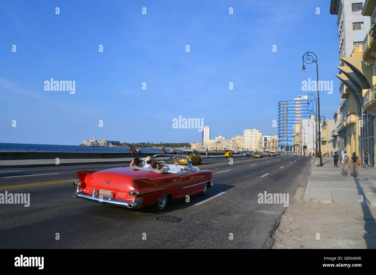 Malecon, Havanna, Kuba 2016 Stockbild