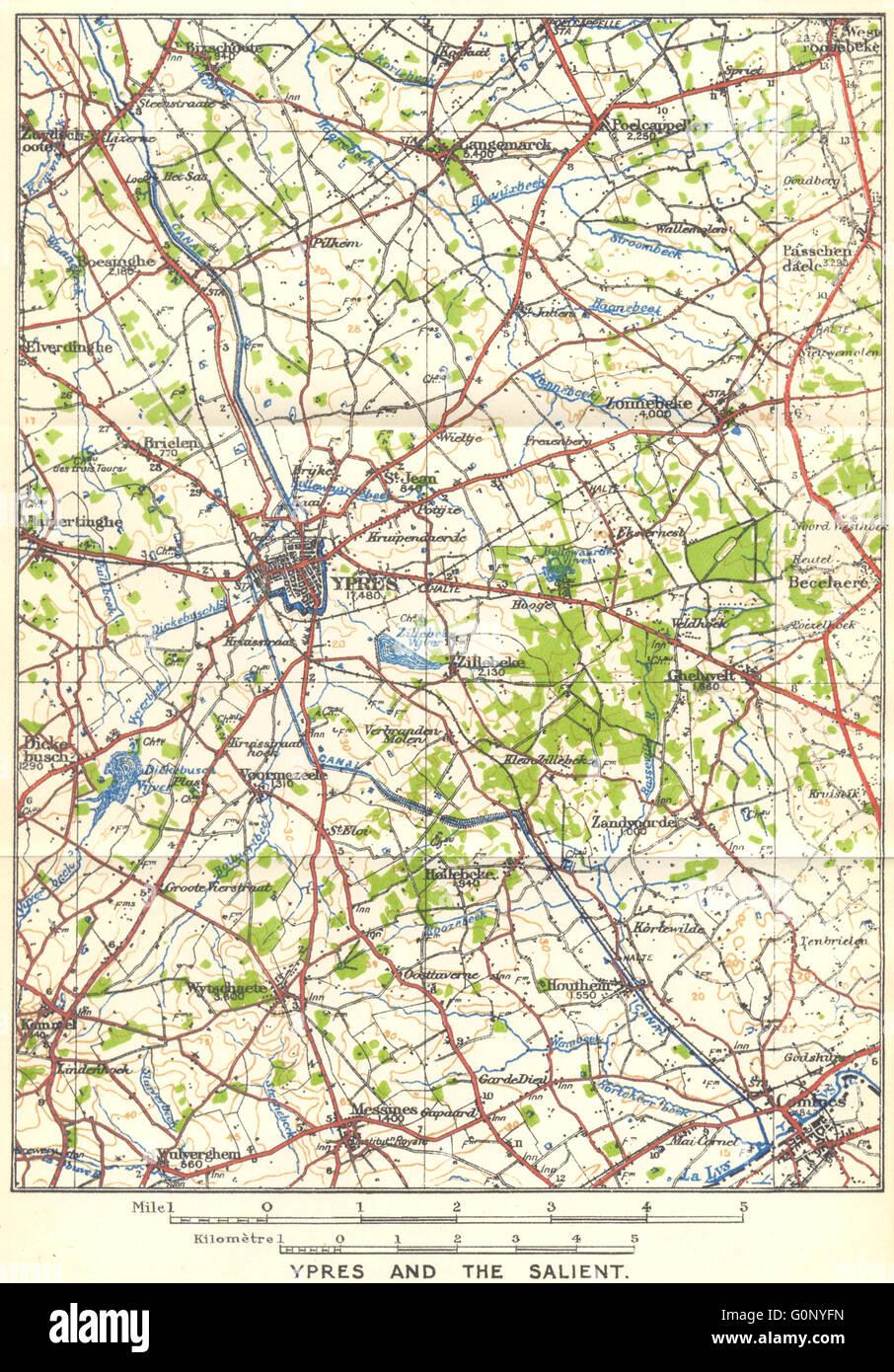 Westfront 1 Weltkrieg Karte.Belgien Ypern Die Auffallende Westfront Ersten