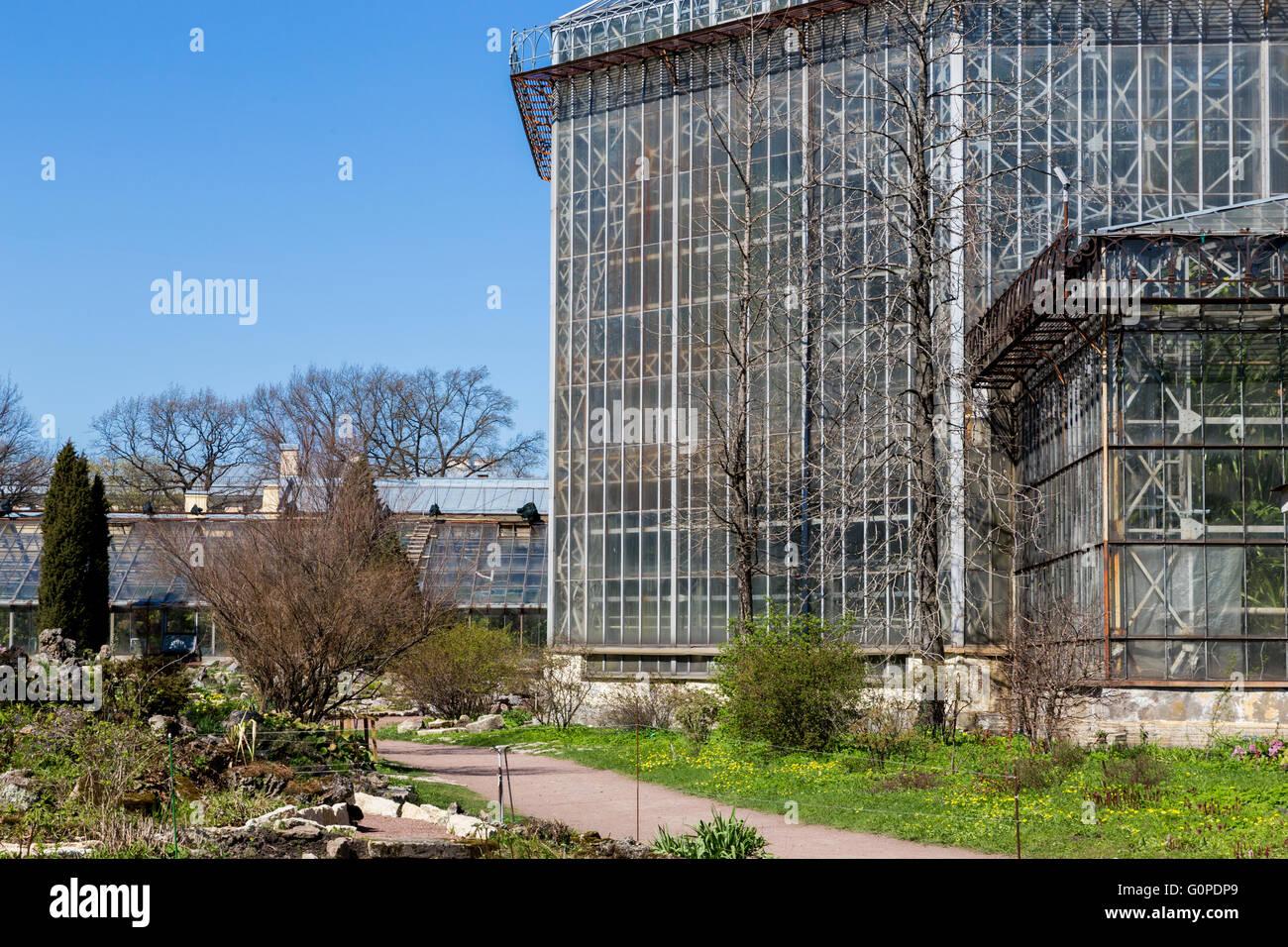 Gewachshaus In Sankt Peterburg Botanischer Garten Alte Architektur