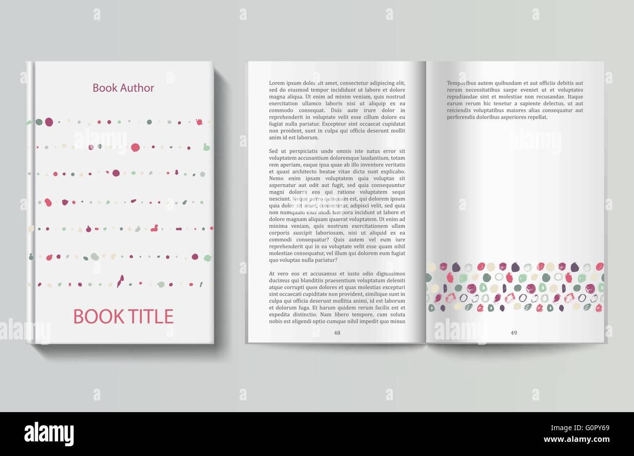 Buch-Design-Vorlage Vektor Abbildung - Bild: 103766497 - Alamy