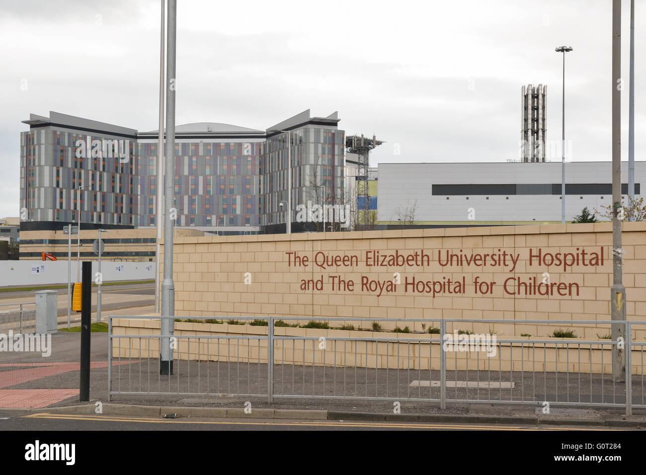 Queen Elizabeth University Hospital und das Royal Hospital for Children - die neue super-Krankenhaus in Glasgow Stockbild