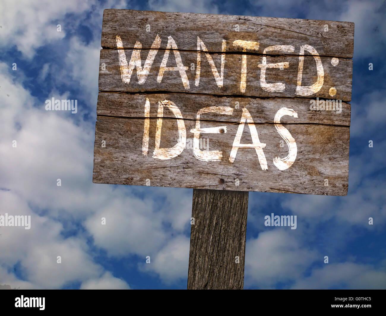 Gesuchter Ideen Stockbild