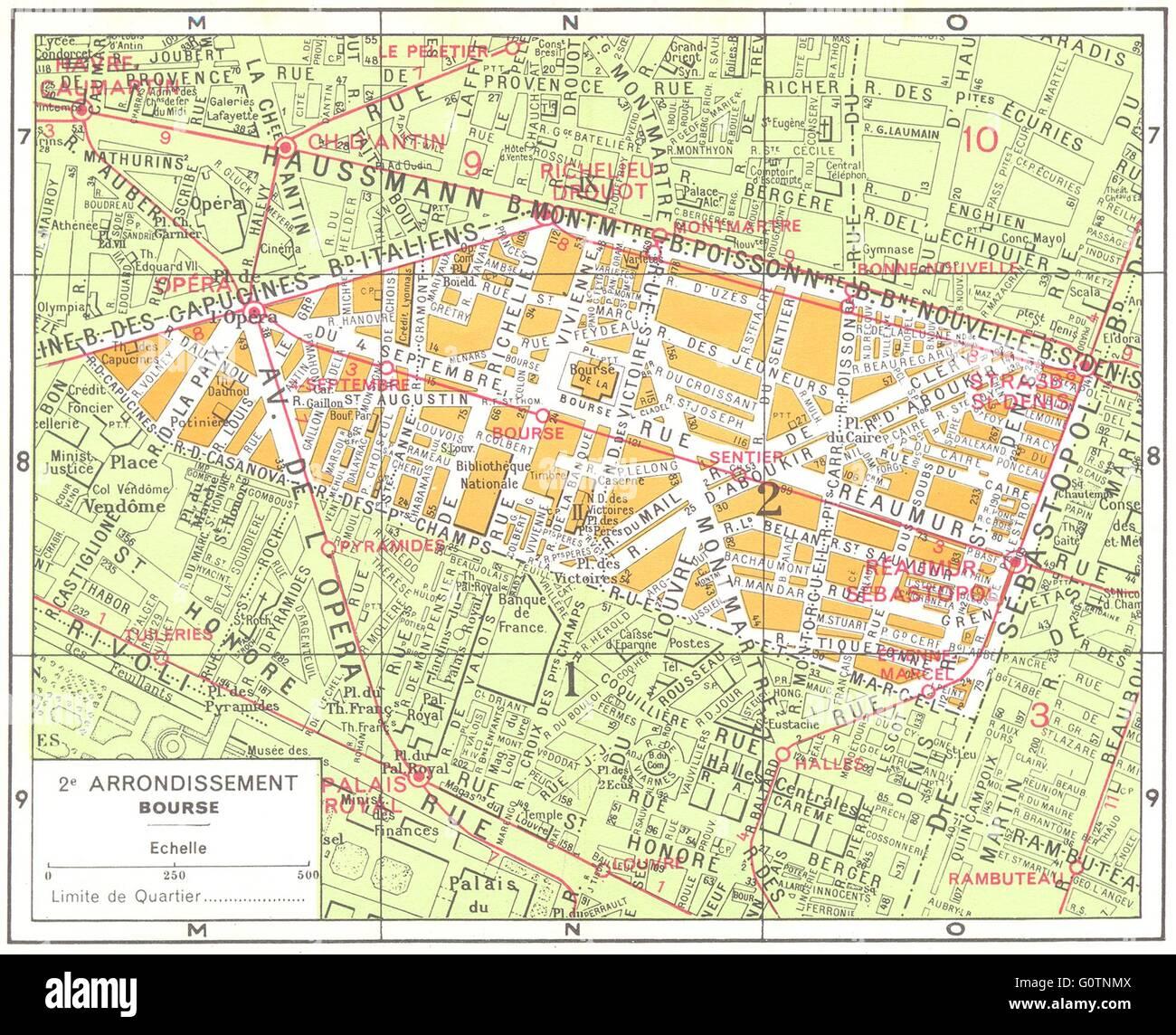 Karte Paris Arrondissement.Paris 2e Arrondissement Stockfotos Paris 2e Arrondissement