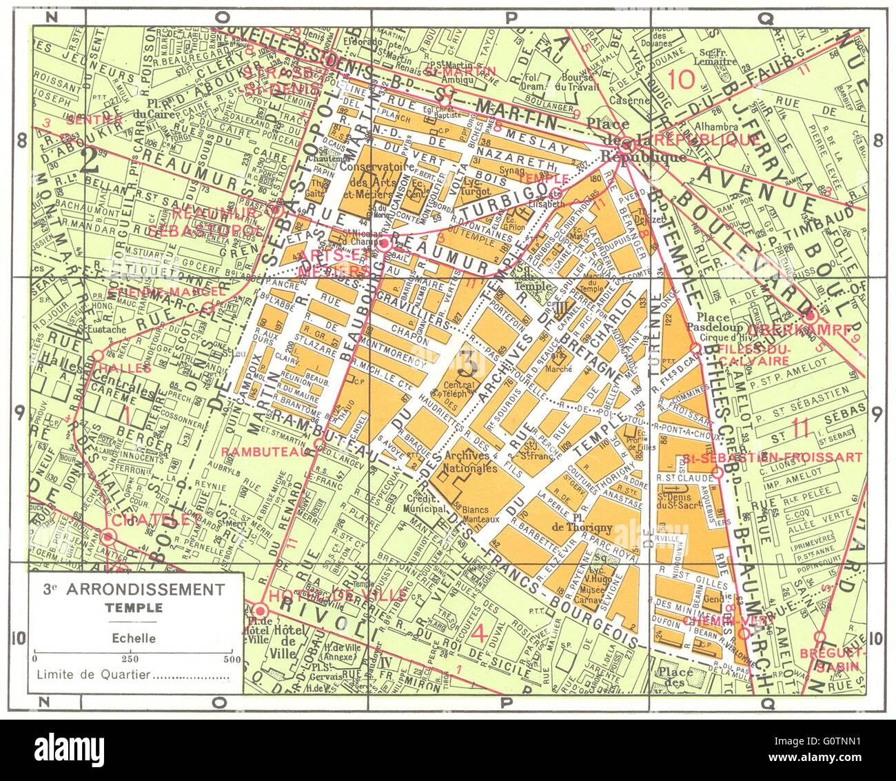 Karte Paris Arrondissement.Paris 3e Arrondissement Stockfotos Paris 3e Arrondissement