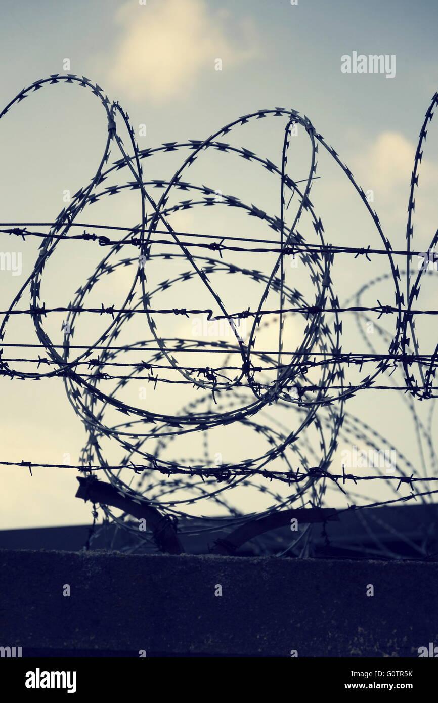 Ausgezeichnet Gefängnis Stacheldraht Zeitgenössisch - Der Schaltplan ...