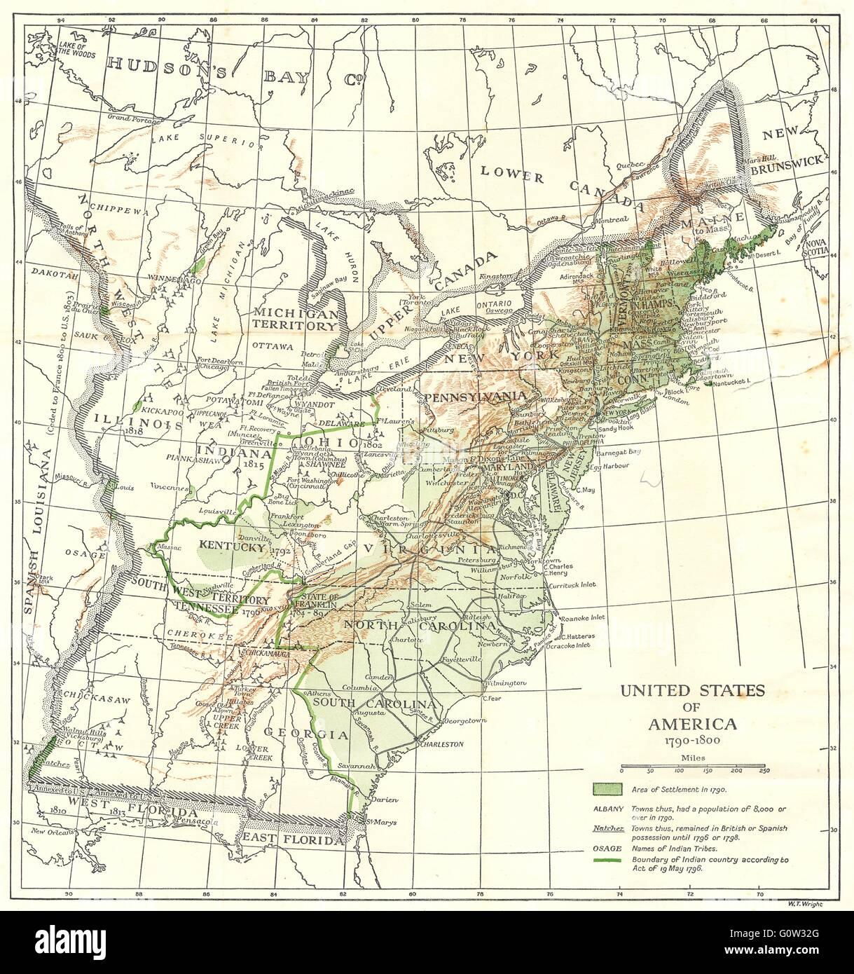 Karte Von Amerika 1800 Stockfotos & Karte Von Amerika 1800 ...