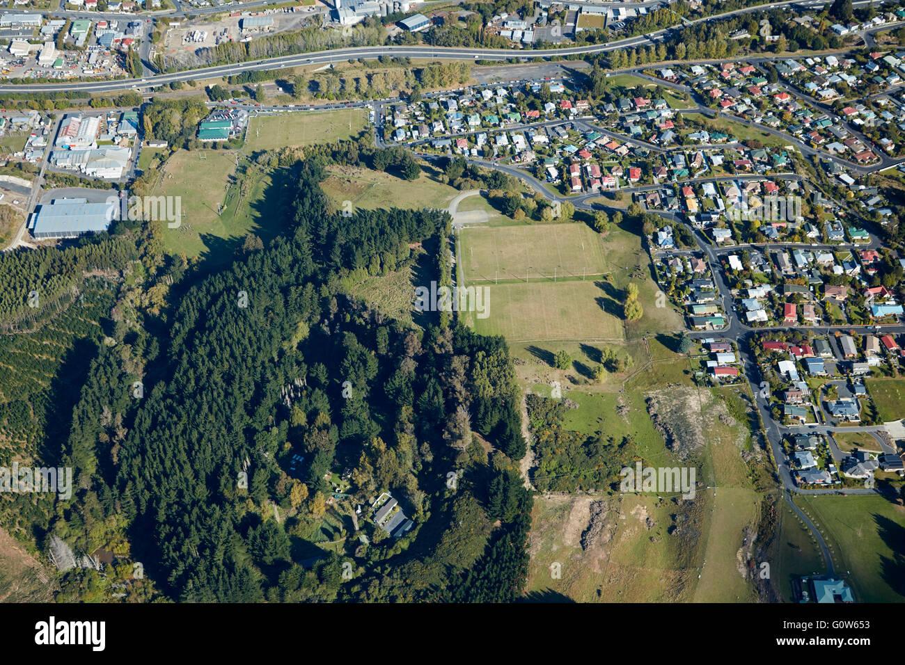 Website von 1979 Abbotsford Slip und Miller Park, Dunedin, Otago, Südinsel, Neuseeland - Antenne Stockbild