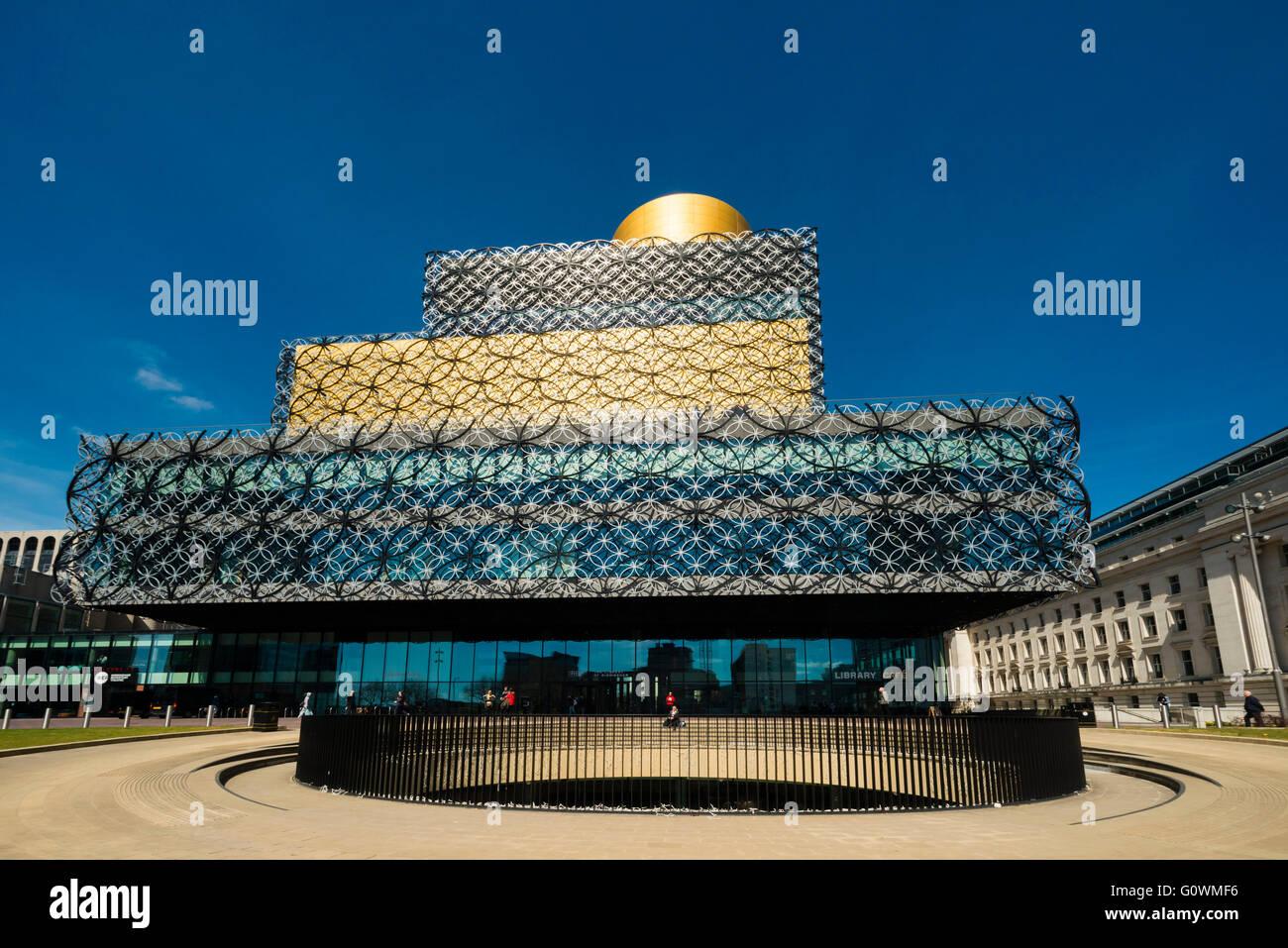 Bibliothek-Birmingham, UK. Stockbild
