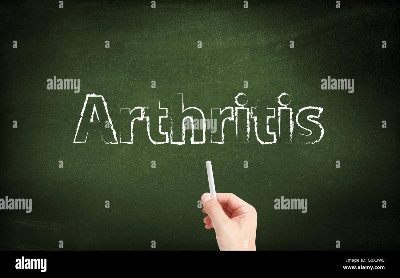 Arthritis auf eine Tafel geschrieben Stockbild