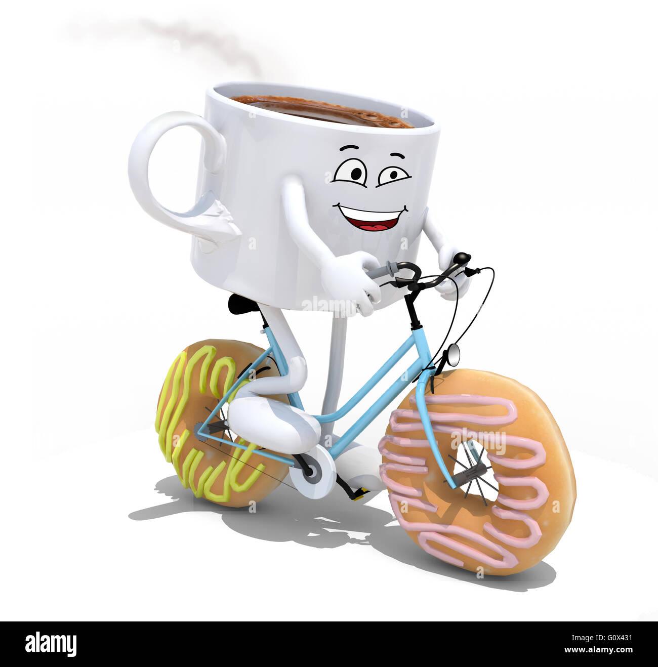 Ausgezeichnet Cartoon Von Kaffee Verdrahtet Zeitgenössisch ...