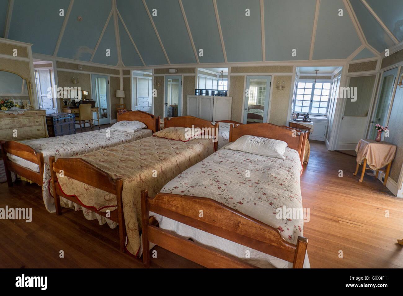 Schlafzimmer New York | New York Thousand Islands Chippewa Bay Sanger Burg Auf Dunkel