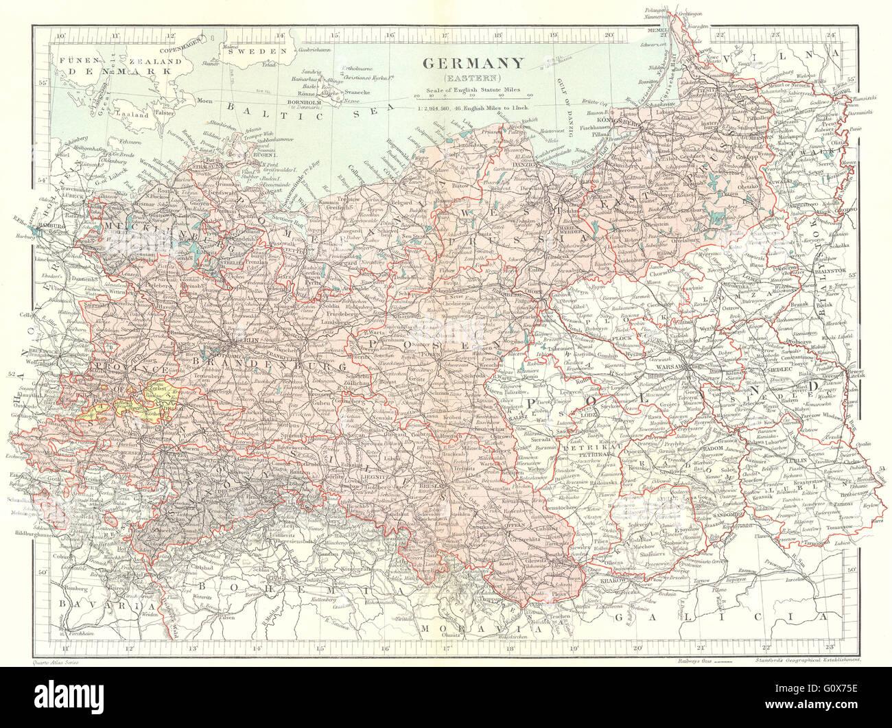 Karte Ostdeutschland.Ostdeutschland Preußen Brandenburg Pommern Sachsen Polen Stanford