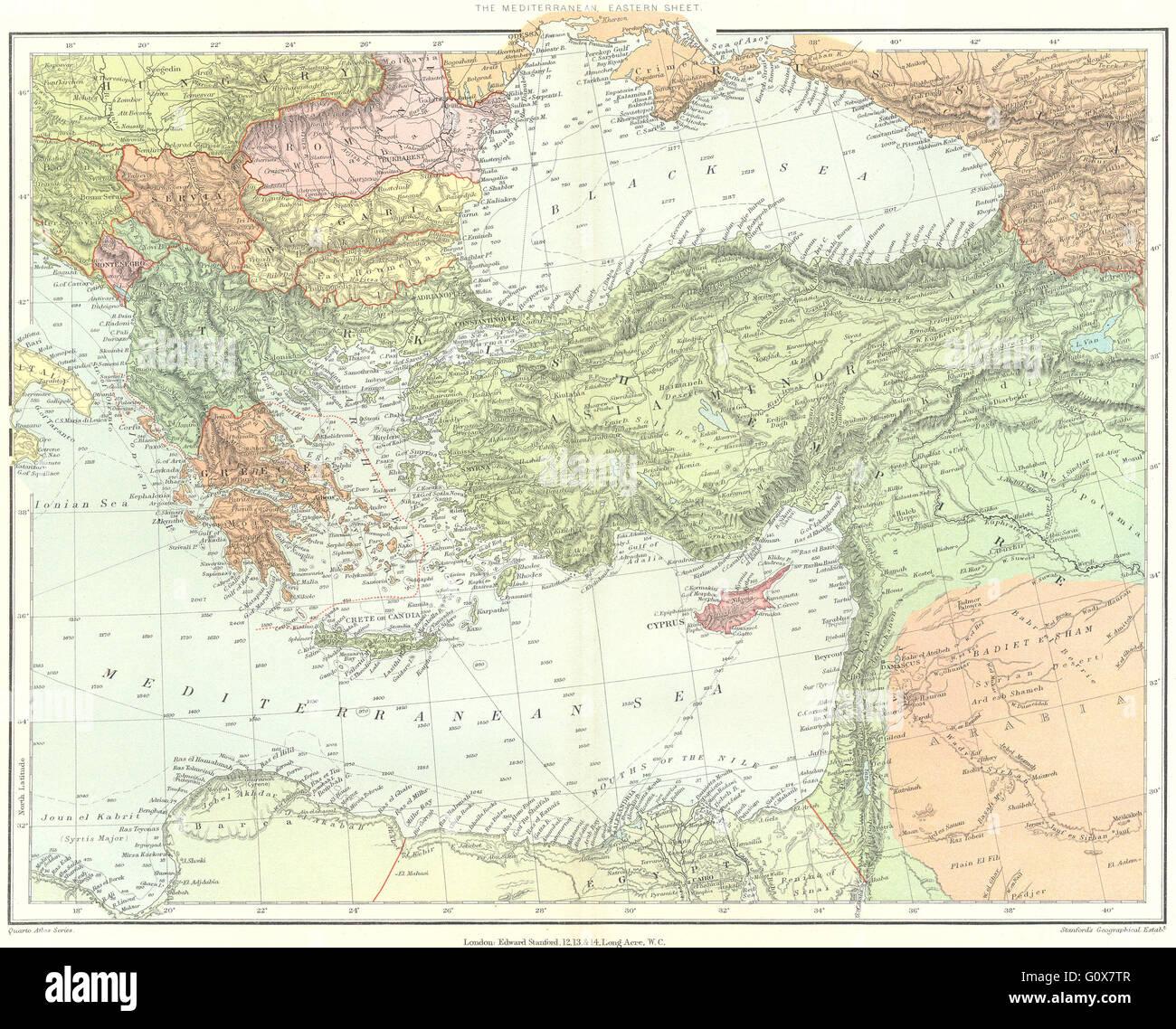 Ostliches Mittelmeer Osmanische Reich Turkei Griechenland