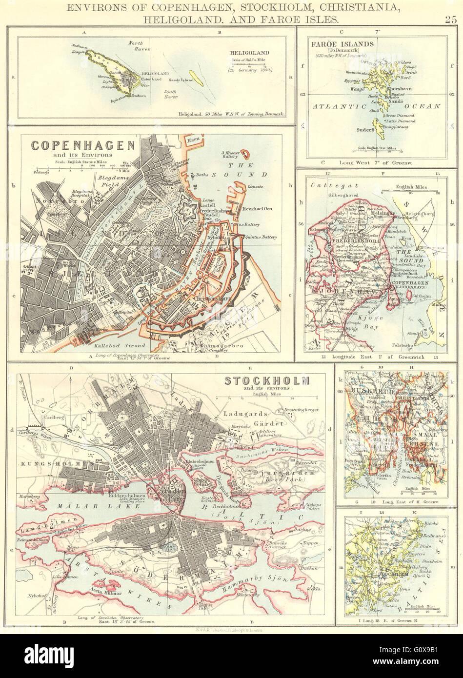 Färöer Inseln Karte.Skandinavien Helgoland Kopenhagen Stockholm Färöer Inseln Oslo