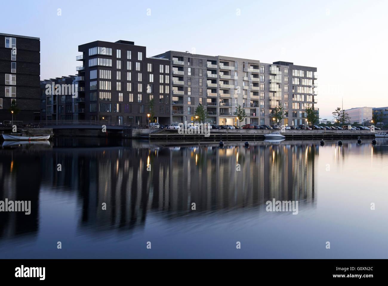 Sluseholmen, eine künstliche Halbinsel im Süden Hafen von Kopenhagen, die sanierten Docks und Standort Stockbild