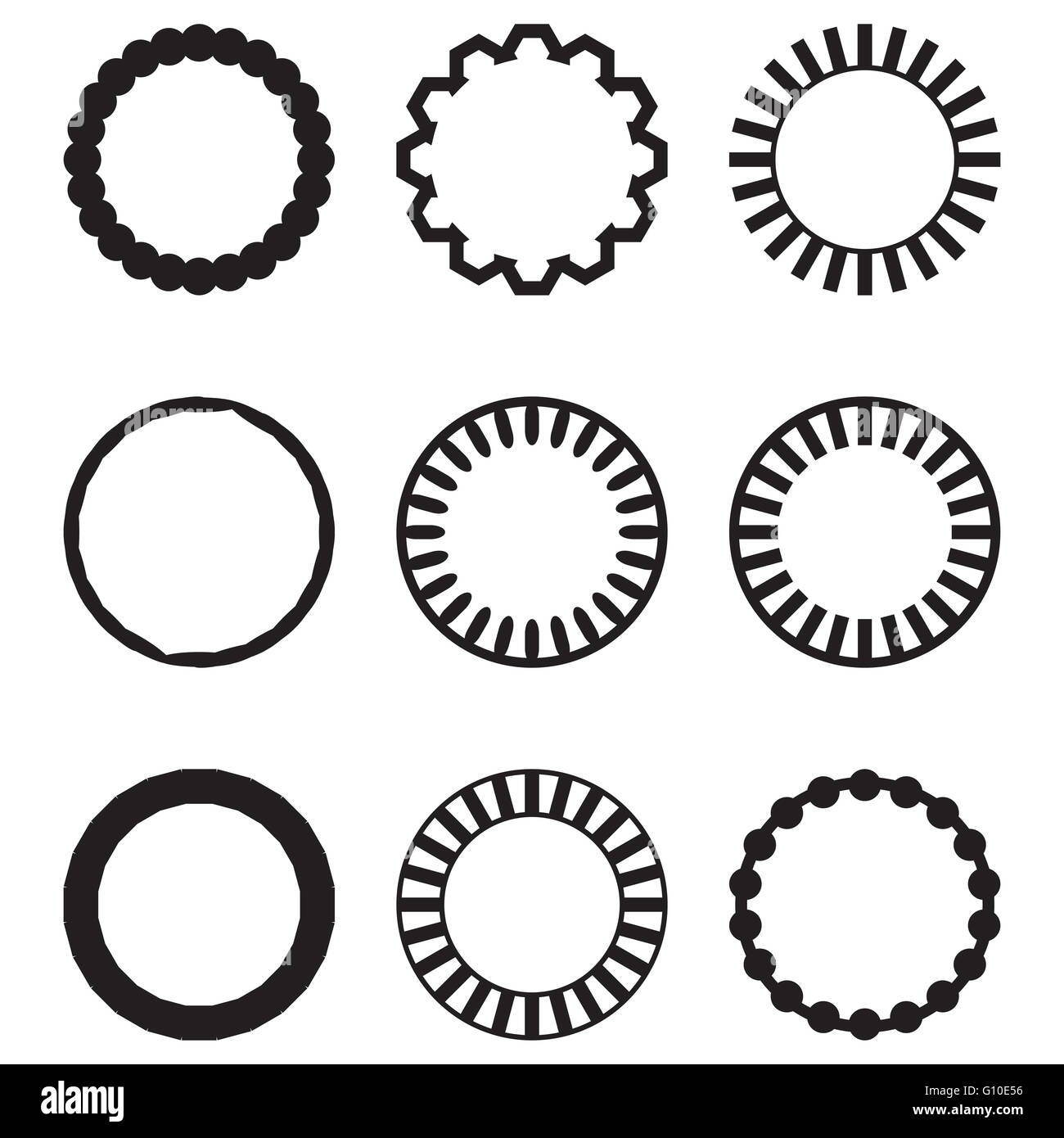 Rahmen runden Kreis geometrische Reihe. Kreis Rahmen und runden ...