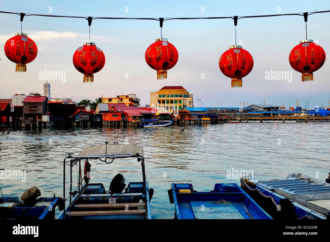 Kauen Sie, Steg, George Town, Penang, Malaysia Stockbild