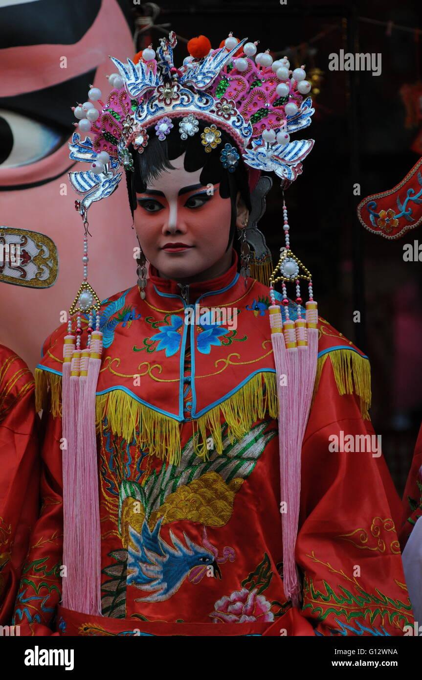 traditionelle chinesische Oper-Darsteller, Chinese New Year Festival ...