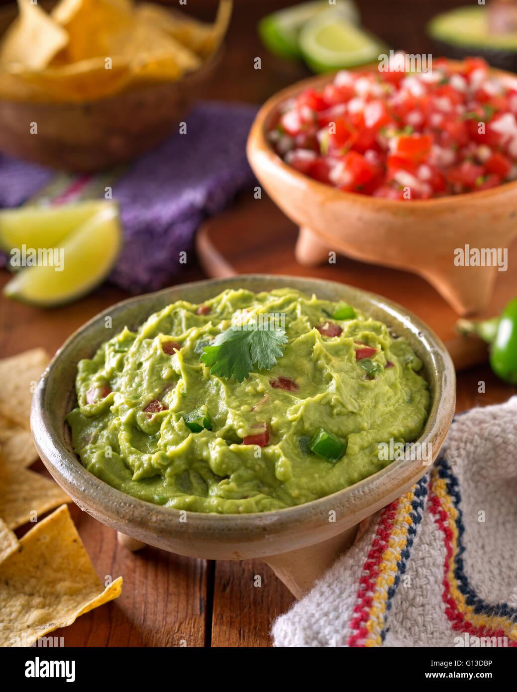 Eine Köstliche Authentische Mexikanische Guacamole Dip Mit Avocado