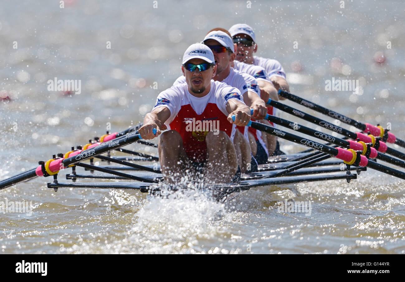 Brandenburg/Havel, Deutschland. 8. Mai 2016. Sergej Fedorovtsev, Vladislav Ryabcev, Artem Kosov und Nikita Morgachev Stockbild