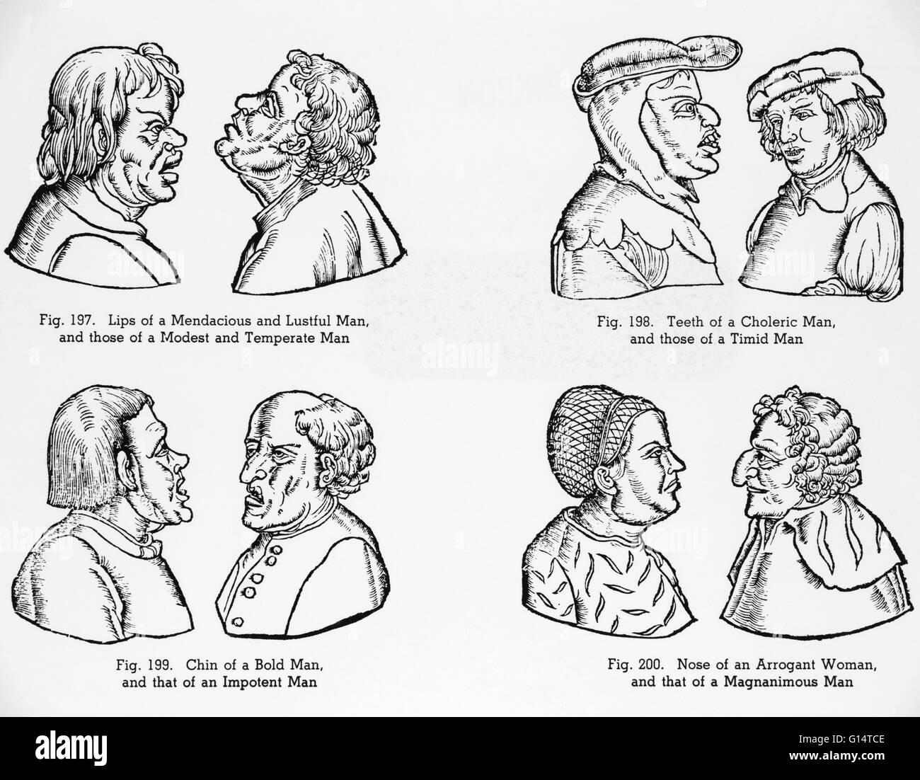 Abbildungen Von Mittelalterlichen Stereotypen Von Persönlichkeiten