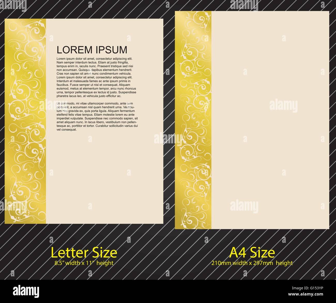 Briefkopf Design Mit Brief Und A4 Größe Vorlage Vektor Abbildung