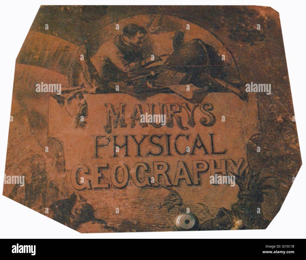 Maurys Physische Geographie des Meeres (1855), das erste umfangreiche und umfassende Buch über Ozeanographie Stockbild
