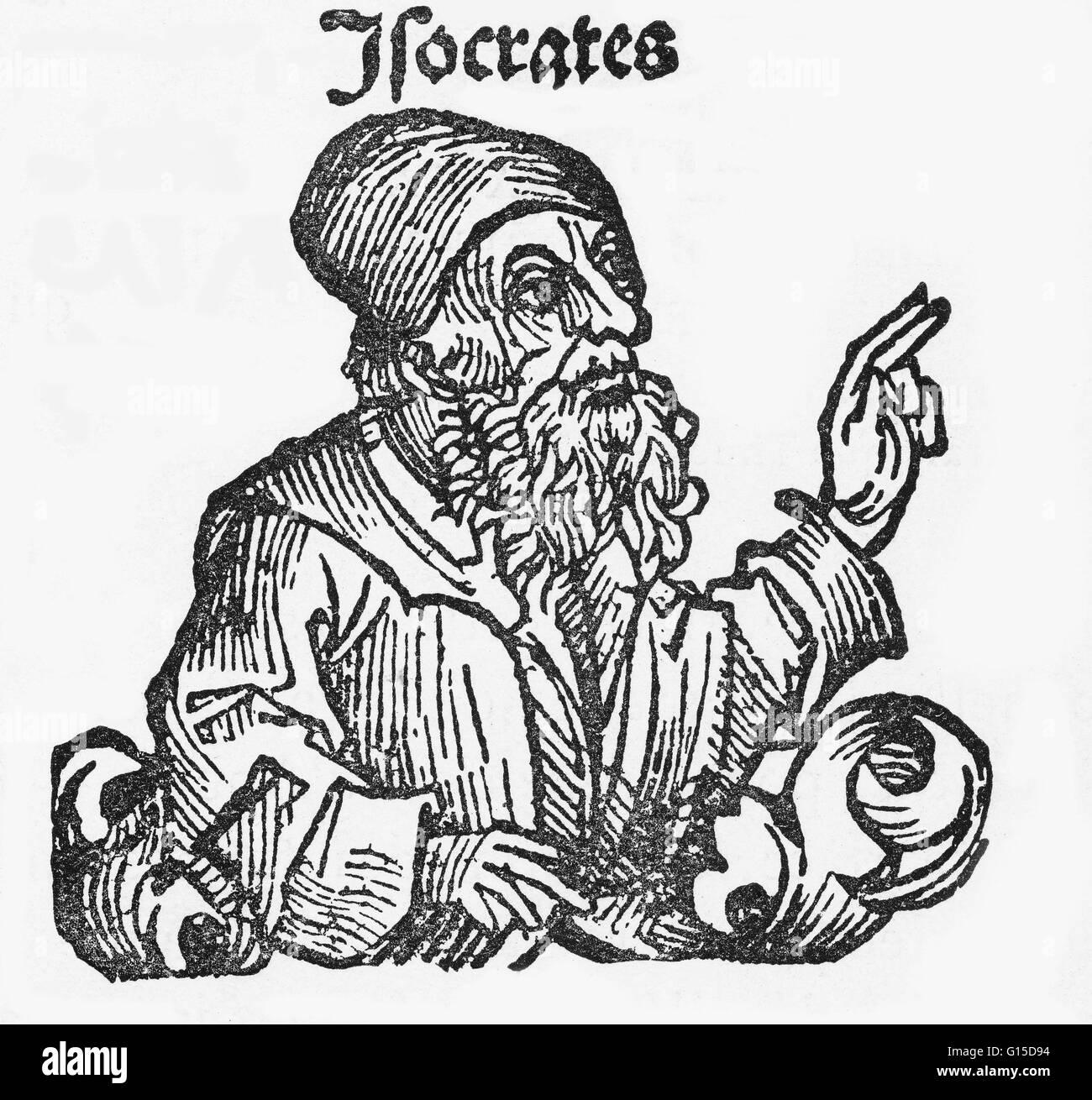 Sokrates (469-399 v. Chr.) war ein klassischer griechischer Athener Philosoph. Als einer der Begründer der abendländischen Stockfoto