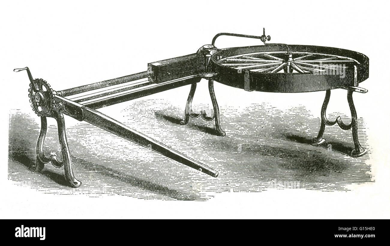 Westen amerikanischen Reifen Setter aus dem 19. Jahrhundert. Stockbild