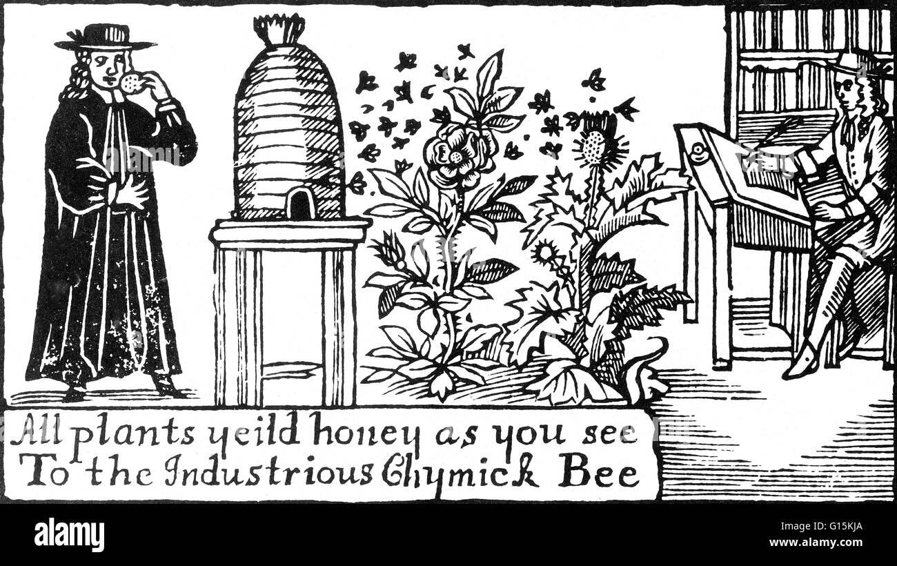 """""""Alle Pflanzen liefern Honig, wie Sie sehen. Die fleißigen Chymick Biene """". Ein geistlicher stand Stockbild"""