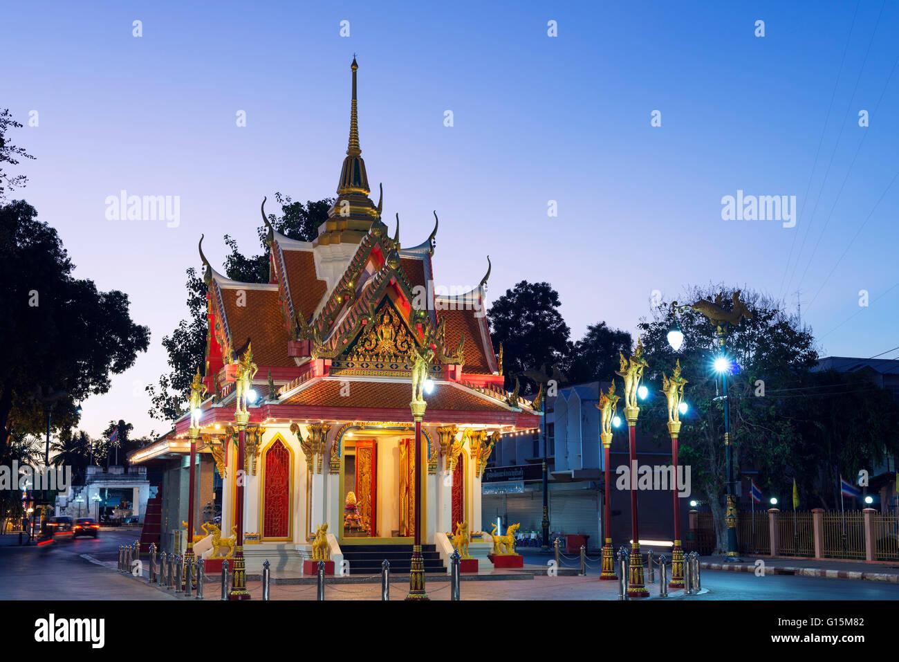 City Gate, Kanchanaburi, Thailand, Südostasien, Asien Stockbild