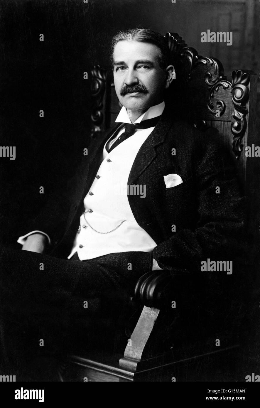 Lyman Frank Baum (1856-1919) war ein US-amerikanischer Autor von Kinderbüchern, am bekanntesten für das Stockbild