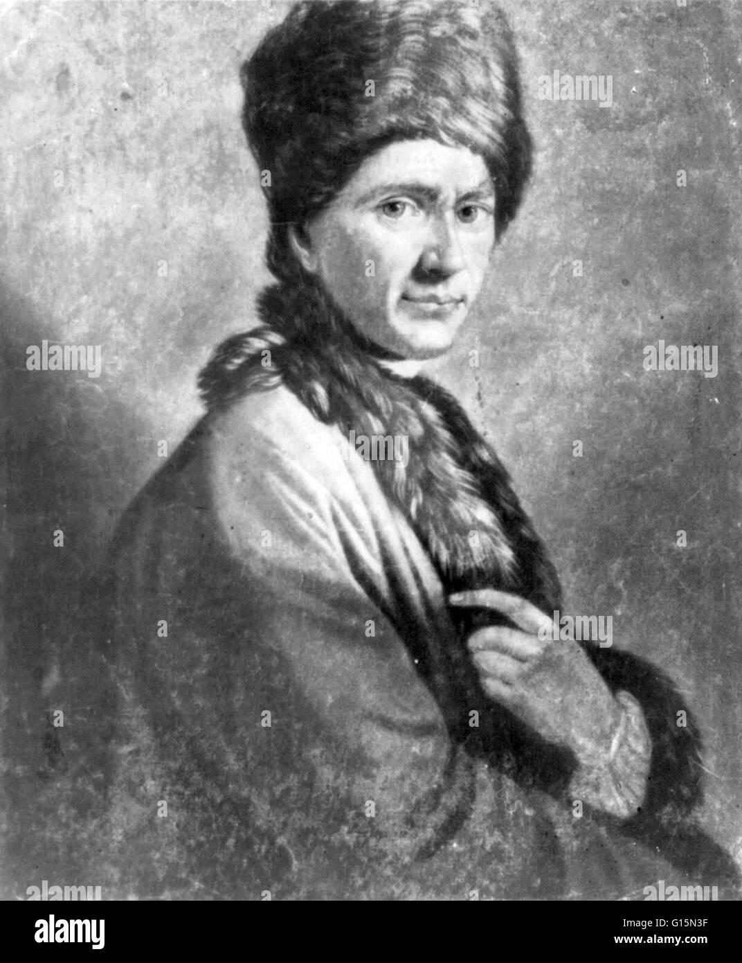 Jean-Jacques Rousseau (28. Juni 1712 - 2. Juli 1778) war ein Schweizer Philosoph, Schriftsteller und Komponisten Stockbild