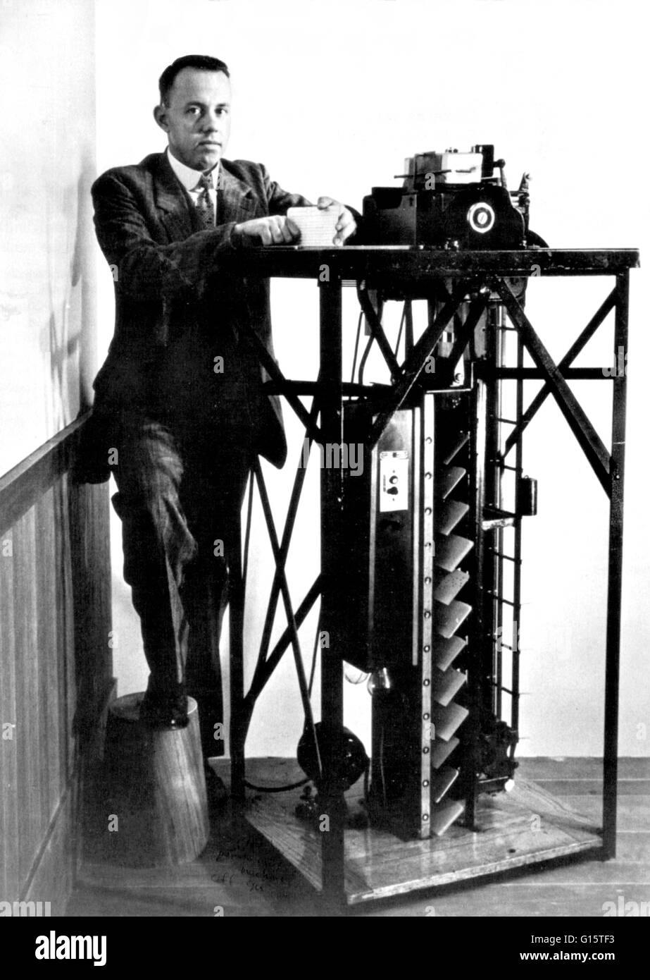Die ursprüngliche Hollerith elektrische tabellarisieren System haben ...