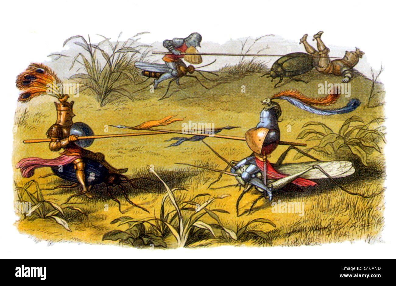 Fee-Ritter. Eine Fee ist eine Art von mythischen Wesen oder legendäre Kreatur in der Europäischen Folklore, Stockbild