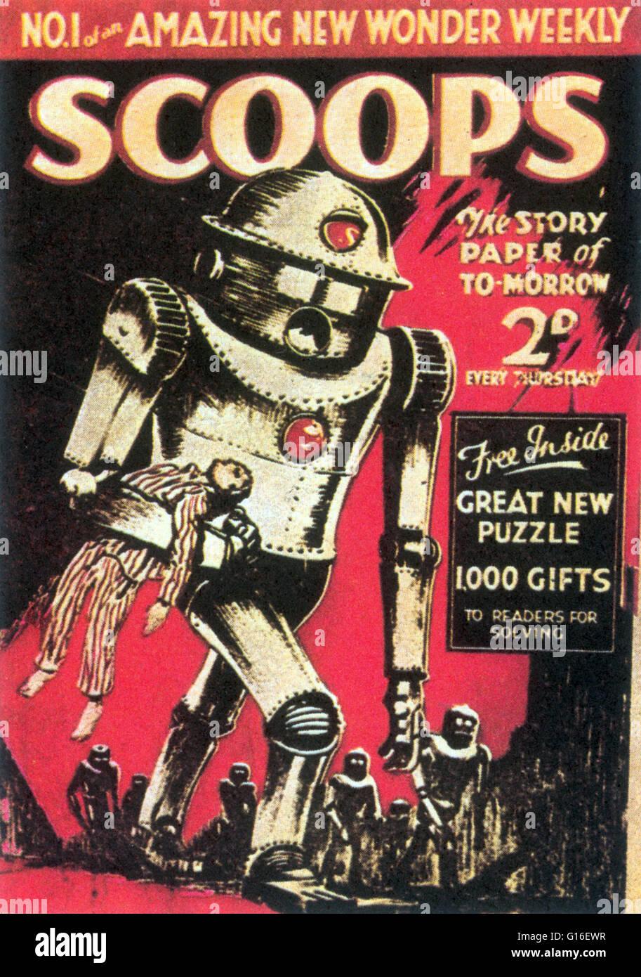 Erste Ausgabe der Kugeln ist ab November 1934.  Das erste US-Science Fiction Magazin, Amazing Stories, wurde in Stockbild