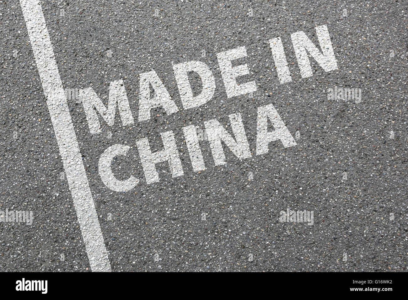 Made in China Produkt marketing Gesellschaft Qualitätskonzept Stockbild