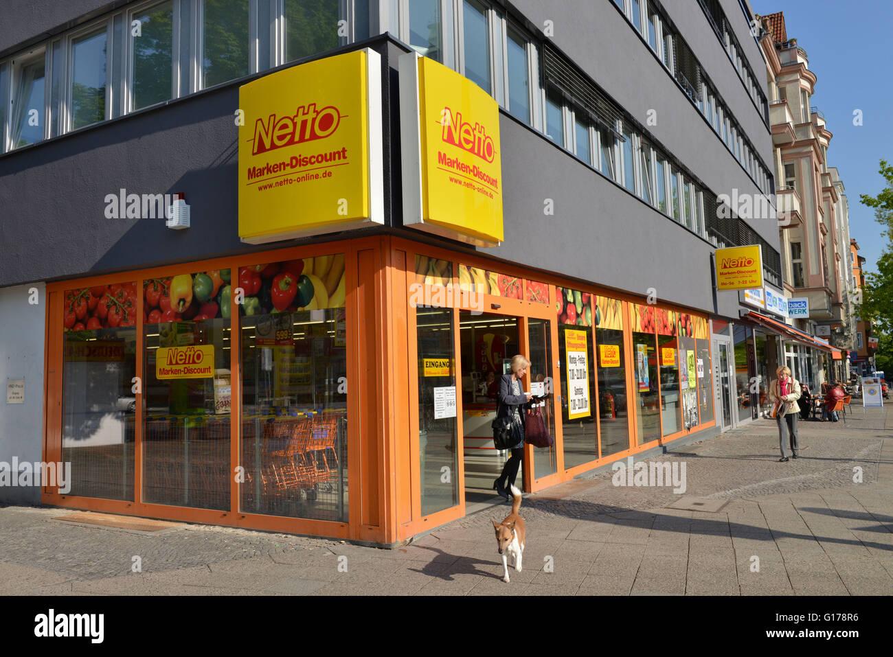 Netto Supermarkt, Berlin, Deutschland Stockfotografie   Alamy