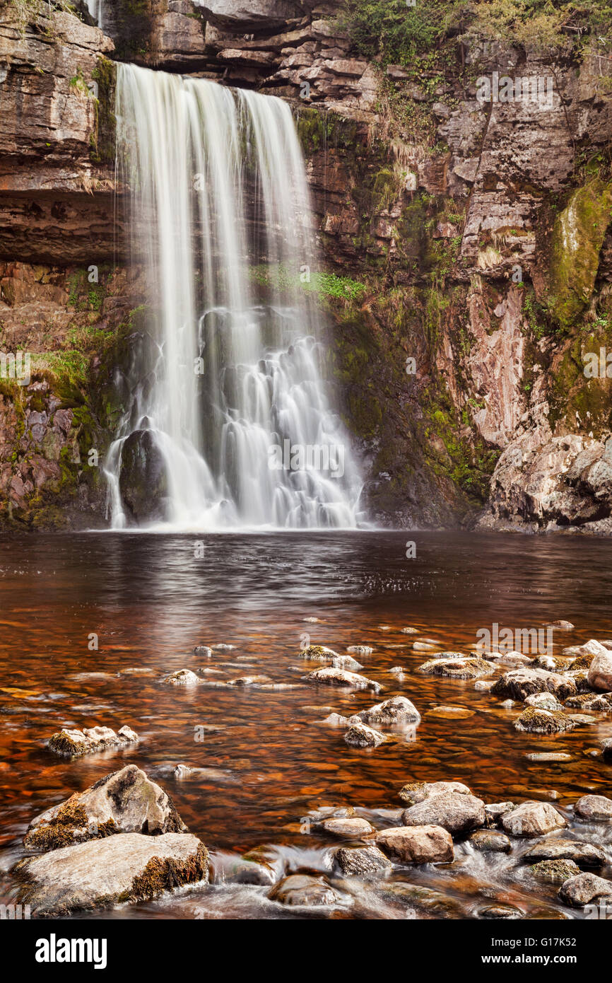 Thornton Kraft, ein Wasserfall auf der Ingleton Wasserfall Trail, Yorkshire Dales National Park, North Yorkshire, Stockbild