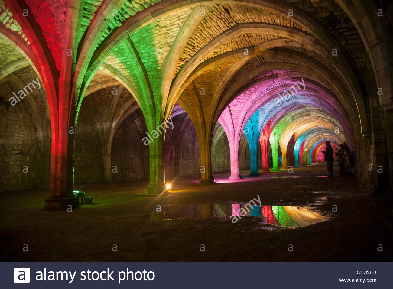 Cellarium, Fountains Abbey, Ripon, Yorkshire Stockbild