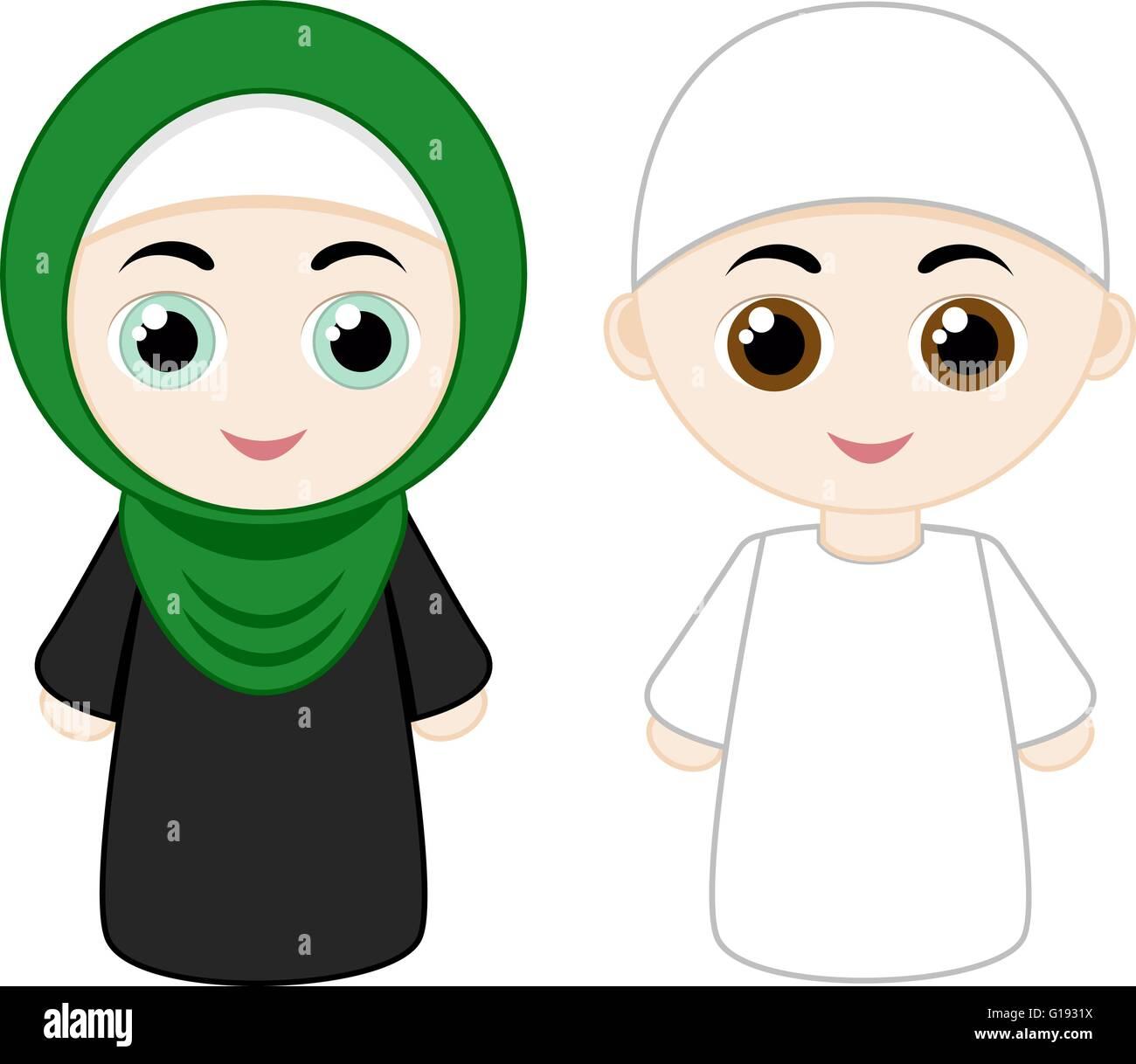 91 Gambar Kartun Islami Laki2 Terbaru Gambar Kantun