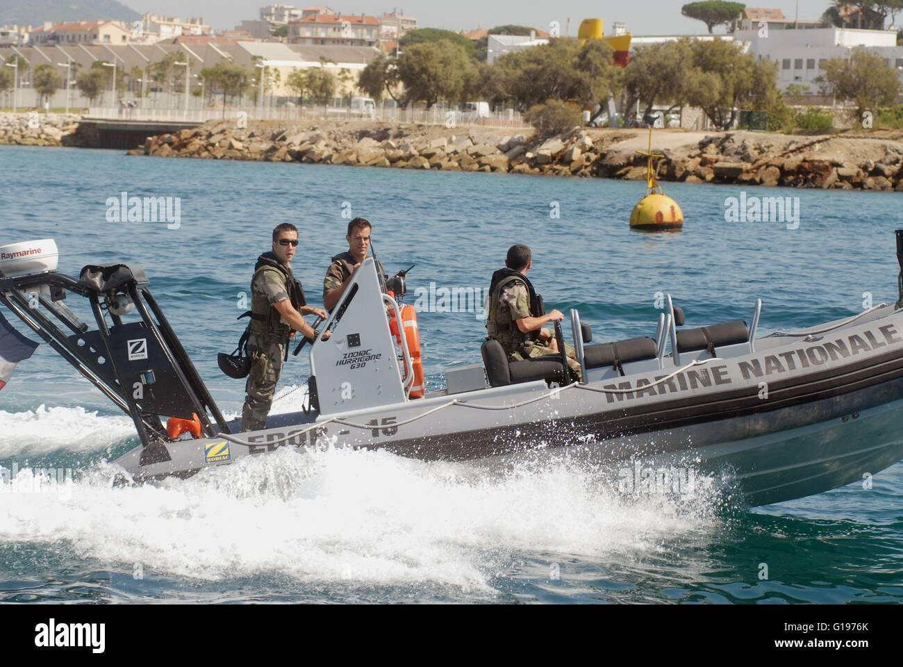 Französische Marine, Toulon naval base, Marine commandos Stockbild